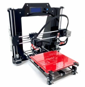 REPRAPGURU DIY RepRap Prusa I3 V2 Black 3D Printer